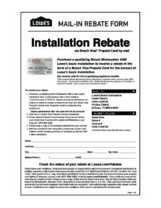 Lowes Free Installation Dishwasher Rebate - Ask Bosch Lowes